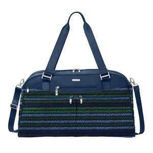 Baggallini Moss Stripe Weekender Overnight Bag